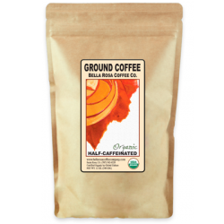 Bella Rosa Low Acid HALF CAF Dark Roast Coffee - GROUND - 12 oz